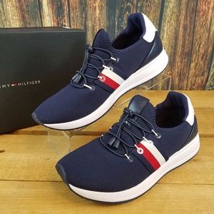 TOMMY HILFIGER RHENA STRIPED BLUE CASUAL SNEAKERS